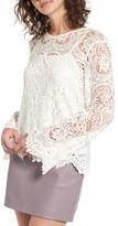 WAYF Women's Lenox Lace Top