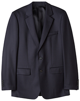 Aquascutum Herringbone Twill Suit Jacket, Navy