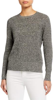 Eileen Fisher Crewneck Silk/Organic Linen Long-Sleeve Sweater
