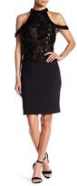 Terani Couture Beaded Cutout Dress
