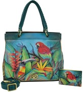 Anuschka Hand Painted Convertible Satchel