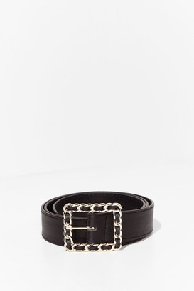 Nasty Gal Womens Chain-ges Like the Weather Faux Leather Belt - Black - One Size