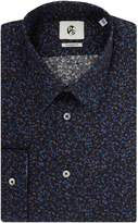 Ps By Paul Smith Long Sleeved Hole Punch Print Shirt