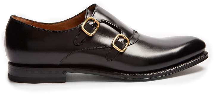 Gucci Signora double monk-strap leather shoes