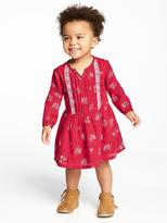 Old Navy Patterned Fit & Flare Pintuck Dress for Toddler