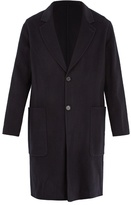 Ami Notch-lapel Wool And Cashmere-blend Overcoat