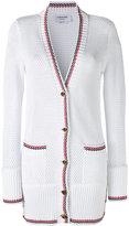 Thom Browne longline cardigan - women - Cotton - 38