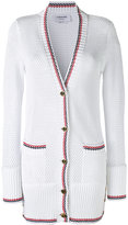 Thom Browne longline cardigan - women - Cotton - 40