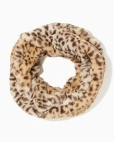 Charming charlie Plush Leopard Infinity Scarf