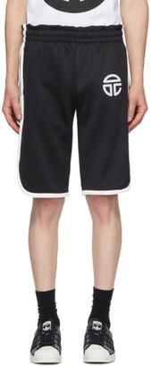 Telfar Black Stripe Long Shorts