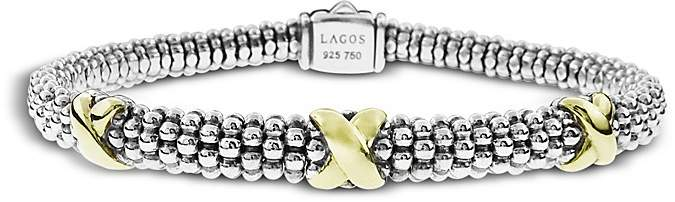 Lagos 18K Gold and Sterling Silver Rope Bracelet