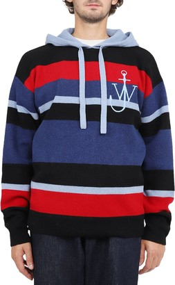J.W.Anderson Striped Logo Hoodie