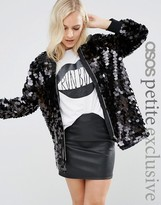 Asos Sequin Bomber Jacket