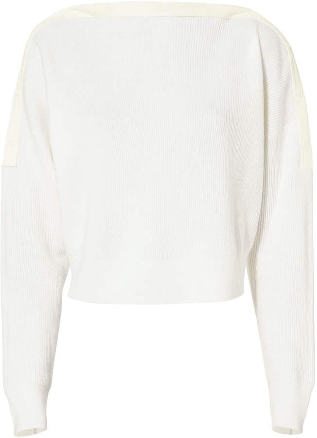 Alexander Wang Snap Detail Cropped Sweater
