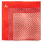 Canali Micro Print Bordered Pocket Square