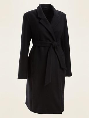 Old Navy Maternity Soft-Brushed Tie-Belt Overcoat