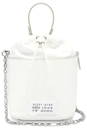 Maison Margiela 5ac Grained-leather Bucket Bag - White
