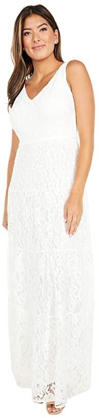 Lauren Ralph Lauren Tyona Sleeveless Day Dress (Lauren White) Women's Dress