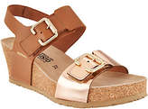 Mephisto Leather Double Strap Wedges -Lissandra