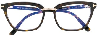 Tom Ford Tortoiseshell Rectangular Glasses