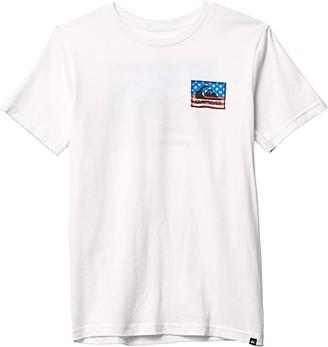 Quiksilver Architexture II (Big Kids) (White) Boy's T Shirt