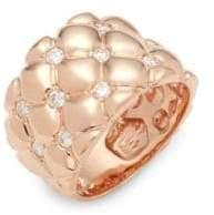 Effy Diamond and 14K Rose Gold Statement Ring