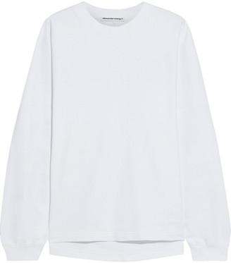 alexanderwang.t Oversized Printed French Cotton-terry Sweatshirt