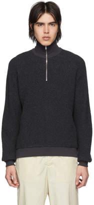 Harmony Grey Wool Sergio Half-Zip Sweater