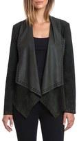 Bagatelle Women's Laser Cut Goatskin Suede Jacket