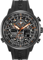 Citizen Eco-Drive Navihawk A-T Mens Black Chronograph Watch JY8035-04E