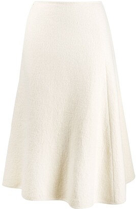 Jil Sander High Waist Wool Skirt