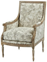 Massoud Furniture James Accent Chair, Gray Floral