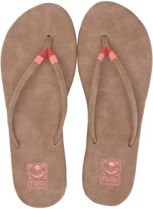 Flojos Women's MINA Flip-Flop Natural Multi 5.0 Medium US