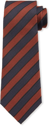 Ermenegildo Zegna Men's Diagonal Stripe Silk Tie