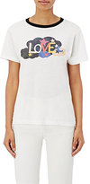 "Saint Laurent Women's ""Love"" Graphic Ringer T-Shirt"