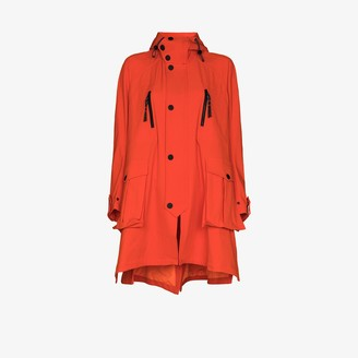 Angel Chen Embroidered Hooded Parka Coat