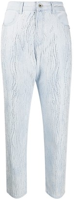 Patrizia Pepe embellished high waisted jeans
