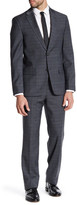 Ben Sherman Ruxley Grey Plaid Two Button Notch Lapel Suit