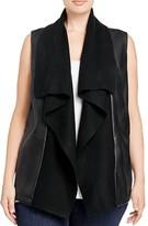 Bagatelle Plus Draped Faux Leather Vest