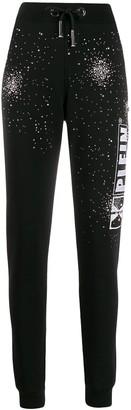 Philipp Plein Crystal Embellished Logo Jogging Trouses