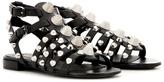 Balenciaga Arena Embellished Leather Sandals