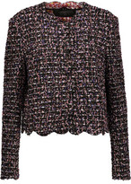Giambattista Valli Scalloped Frayed Tweed Jacket
