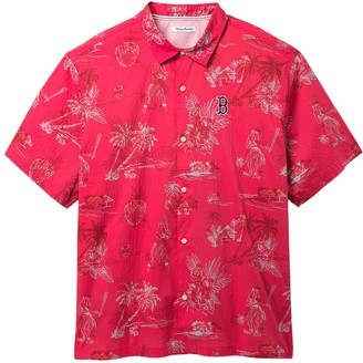 Tommy Bahama MLB(R) Seventh Inning Tropical Print Regular Fit Camp Shirt
