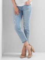 Maternity full panel destructed best girlfriend jeans