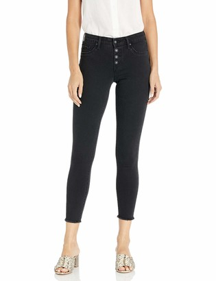 Jessica Simpson Women's Kiss Me Vintage Button Fly Ankle Skinny