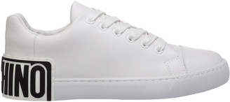 Moschino Logo Patch Lace-Up Sneakers