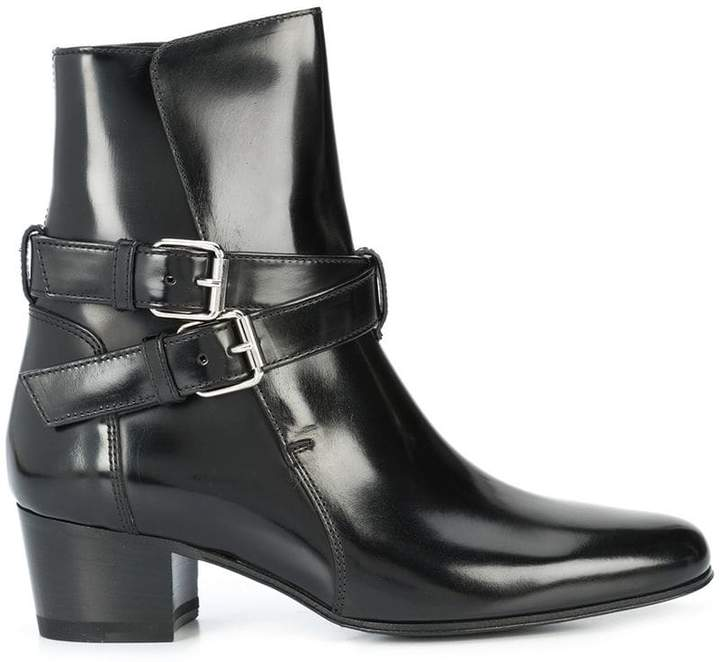 Amiri buckle ankle boots