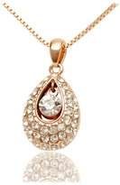 Coach Women's Fashion Jewelry Rose Gold Plated Necklace With a Host of Beautiful Array of Sparkling Crystals