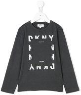 DKNY logo print longsleeved T-shirt