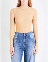 Maison Margiela Ladies Nude Round Catwalk Stud-Detail Woven Bodysuit